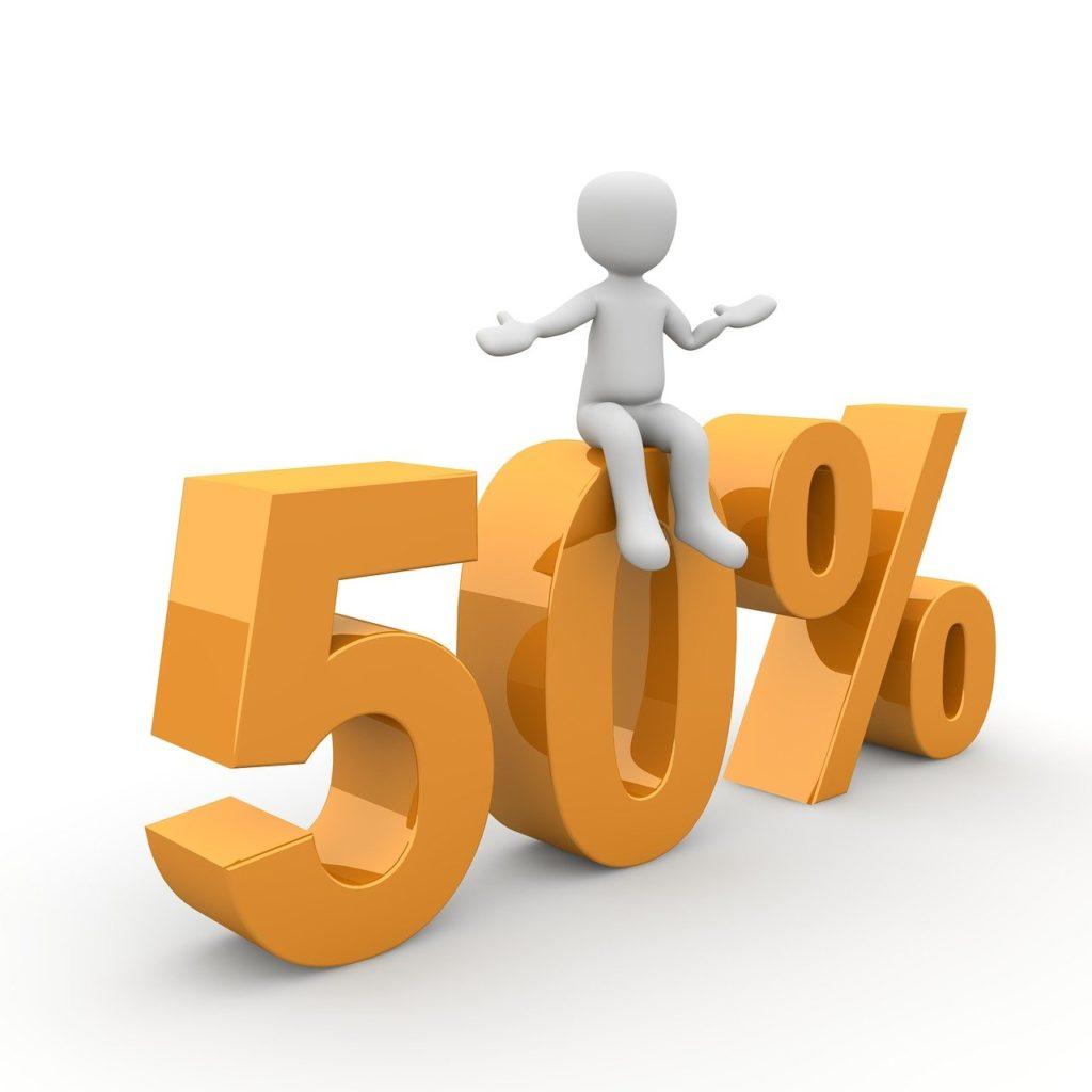 50 százalék